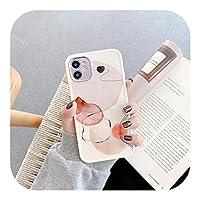 Hjiing 花の水彩ソフト保護ケース水彩画iPhone用携帯電話ケース12Pro Max Mini 11 XS MAX X XR SE 2020 7 8Plusソフトケース-Style 9-For iphone 8 Plus