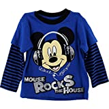 Photo de T-Shirt a strati 2T-4T (4T) di Mouse Top Boys Mouse Rocks The House