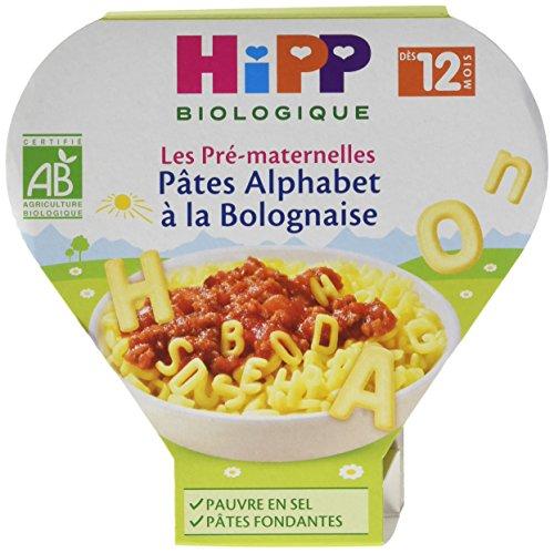 Hipp Biologique Les Pré-Maternelles Pâtes Alphabet à la Bolognaise dès 12 Mois - 6 assiettes de 230 g