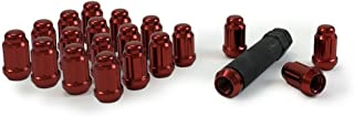 Gorilla Automotive 21133RD Small Diameter Acorn Red 5 Lug Kit (12mm x 1.50 Thread Size) - Pack of 20