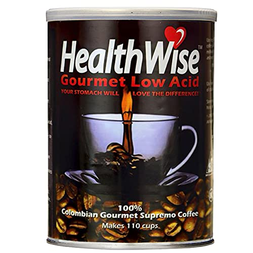 HealthWise Low Acid Coffee 100 Colombian Supremo, Original, 12 Ounce