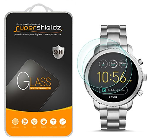 (2 Pack) Supershieldz for Fossil Q Explorist Gen 3 Tempered Glass Screen Protector, Anti Scratch, Bubble Free