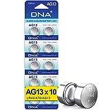 DNA- Pilas alcalinas de botón tipo AG13, A76, L1154, SR44, G13, 357, PX76A y V13GA, 10 unidades
