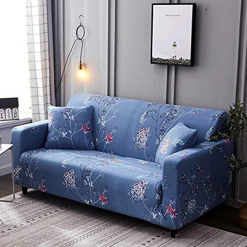 Funda de sofá en Forma de L, Funda de sofá elástica, Funda de sillón en Forma de L para Sala de Estar, Funda Protectora Completa,Color_17,3-Seater_190-230
