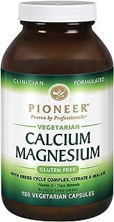 Pioneer Nutrition Calcium Magnesium Supplements, Vegetarian, 180 Count