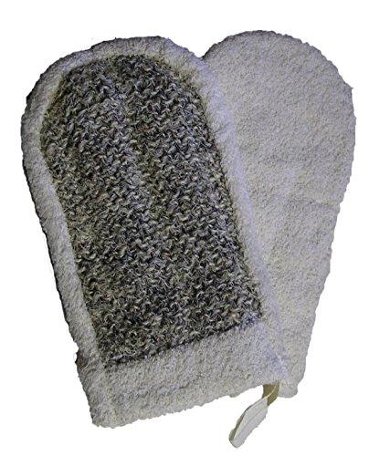Magia - crin Guante y rizo de algodón, gris