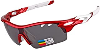 LUKEEXIN Electroplating Polarized Light Driving Sunglasses Outdoor Glasses (Color : Red)