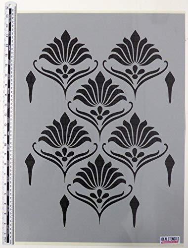 Jugendstil Muster Schablone, Blumenmuster Vintage Dekorieren Schablone Groß Schablone für die Malerei Wände, Stoffe, Möbel
