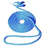 Invincible Marine 15-Foot Double Braid Nylon Dock Line, 1/2-Inch by 15-Feet, Blue