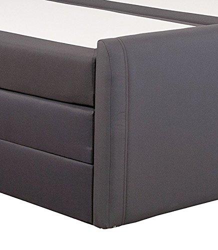 produced4you 6141-881-0000 Boxspringbett mit Bettkasten, 180 x 200 cm, grau - 4