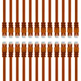 GearIT 24-Pack, Cat 6 Ethernet Cable Cat6 Snagless Patch 3 Feet - Snagless RJ45 Computer LAN Network Cord, Orange - Compatible with 24 48 Port Switch POE Rackmount 24port Gigabit