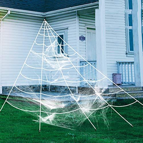 ZOYLINK Halloween Spinnennetz Spinngewebe Dekoration Set Halloween Party Gartendekoration (7 * 7.5 m)