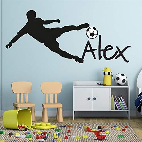 Tianpengyuanshuai Voetbal muur beker peeling voetbal gepersonaliseerde naam vinyl muur stickers art kinderen muur stickers kinderen kamer decoratie