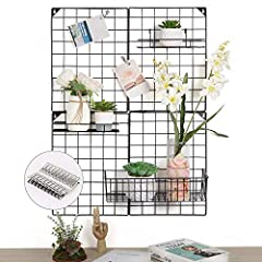 🔍 Dimension: 32.7(L) x 23.8(W) x 5.9(H) inch. This grid photo wall can be used as photo hanging display,. Clip your photos on this picture grid and hang it on the wall. Whether it's in the office, bedroom or living room, it's a great tool for decorat...