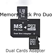 SANOXY Dual Slot Micro SD TF To MS Memory Stick Pro Duo Adapter Sony PSP and Mobile Phones (Black)