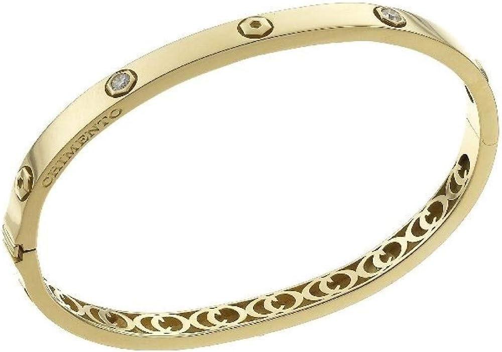 Chimento,bracciale per donna , in oro giallo 18 kt(21,5 gr) e diamanti ct. 0.28 1B01313B11180