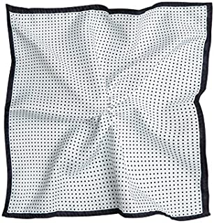 Tarocash Men's Spot Print Pocket Square White 1 for Going Out Smart Occasionwear