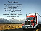 NAMES TO REMEMBER What's in a Name? Customized Trucker's Prayer Gift on Truck Art Background for Dad, Truck Driver or Father's Day