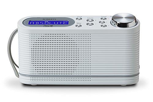 Roberts Radio Play10 DAB/DAB+/FM Digital Radio with Simple Presets - White