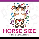 Silly Sounds Horse Earplugs (Black) 4pk