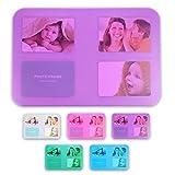 WOP ART Individuell gestaltbare Tischsets Transparo für 4 10x15 Fotos in 5 Farben im Set erhältlich (lila/12er Set)