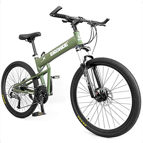 Xiaoyue Erwachsene Kinder Mountainbikes, Aluminium Full Suspension Rahmen Hardtail Mountainbike, Folding Mountain Fahrrad, Verstellbarer Sitz, Schwarz, 29-Zoll-30-Speed lalay