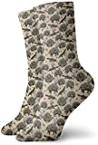 ONGH Monotremes Wildflowers On Apricot Calcetines clásicos de punto plano Casual Athletic Stoking 30CM Soft