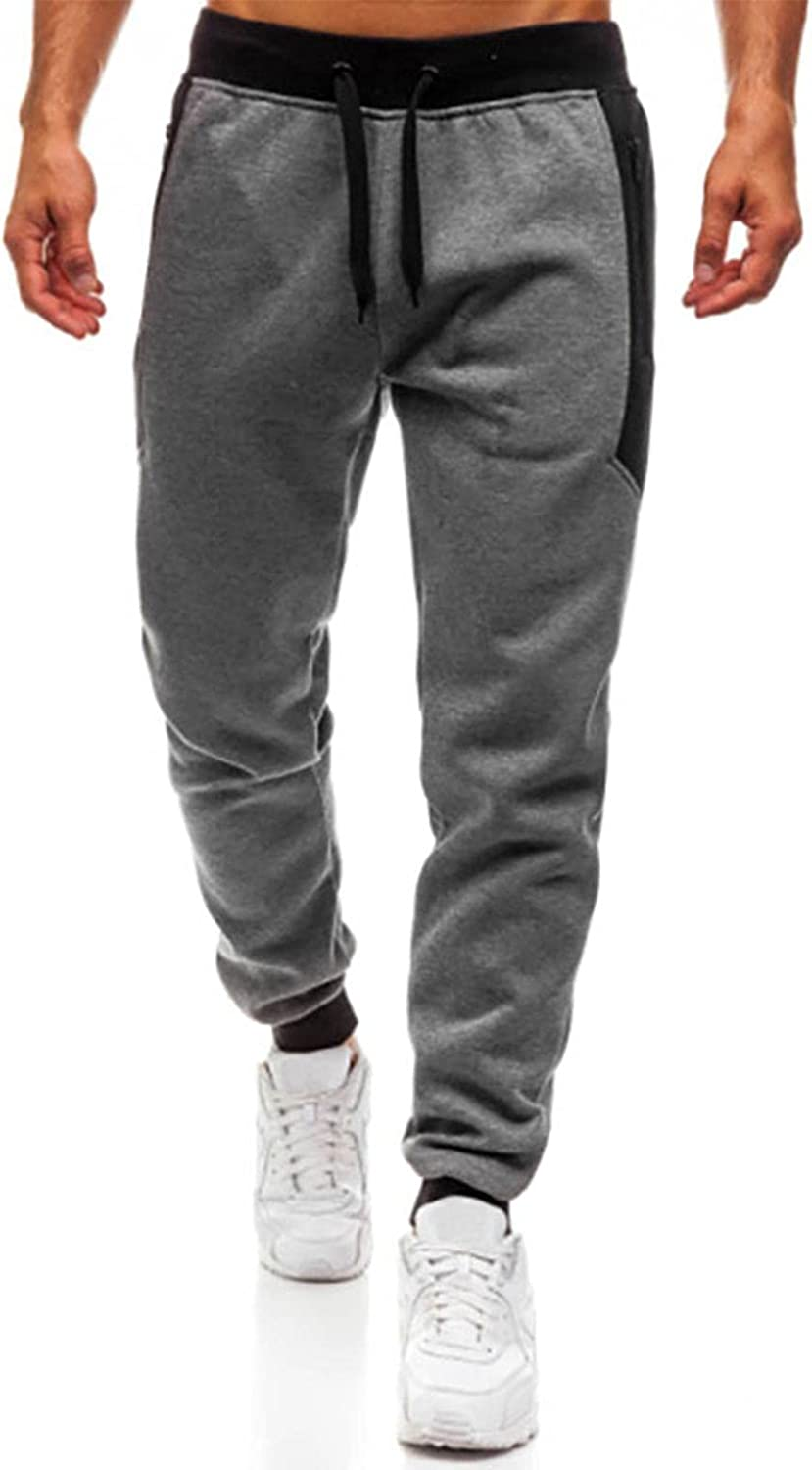 Tyoby Mens Joggers Sweatpants with Pockets Slim Fit Athletic Workout Pants Gym Training Running Ankle Pants