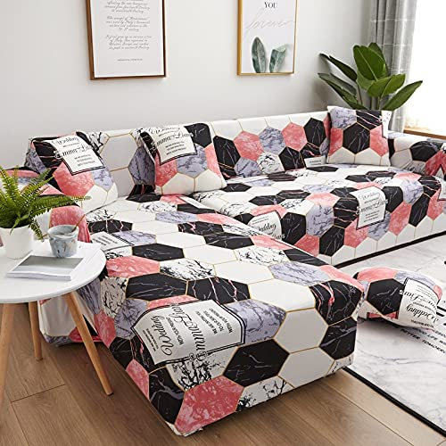 Vardagsrum L-format sofföverdrag soffa hushåll vilstol skydd sofföverdrag spandex stretch sofföverdrag 1/2/3/4 säte A18 3-sits