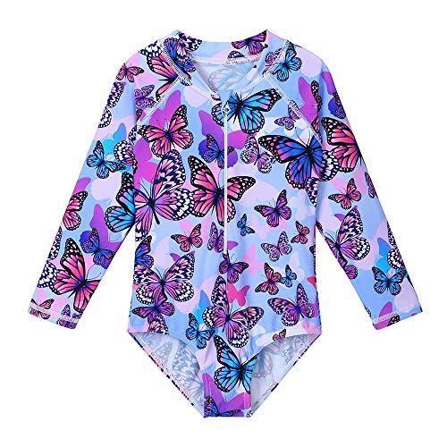 Huaniue Badpak voor meisjes, UV-bescherming, eendelig, zonwering, badpak