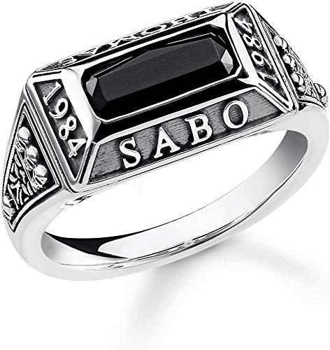 Thomas Sabo - Anillo de Hombre, Plata de ley 925, Negro