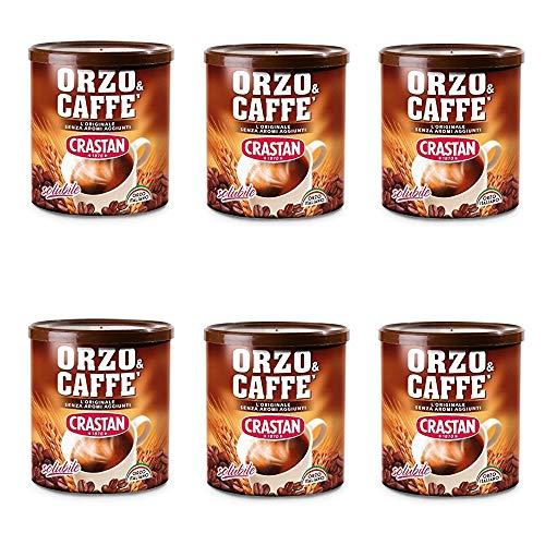 6x Crastan Orzo und kaffee Instant lösliche Gerste Getreidekaffee Kaffee 120 gr
