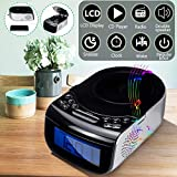 Digital LCD Alarm Clock Dual Speaker Tuning Am/Fm Radio Cd Music Player Machine