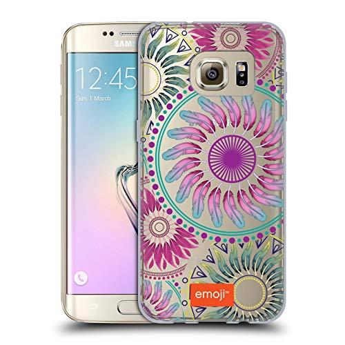 Head Case Designs Oficial Emoji® Mandala Hippie Chic Carcasa de Gel de Silicona Compatible con Samsung Galaxy S7 Edge