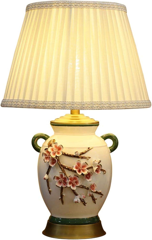 SLH Warme Schlafzimmer Keramik Tischlampe Romantische Rosa Nachttischlampe Moderne europäische europäische europäische minimalistische Wohnzimmer Tischlampe B07K73P461 | Modisch  afba82