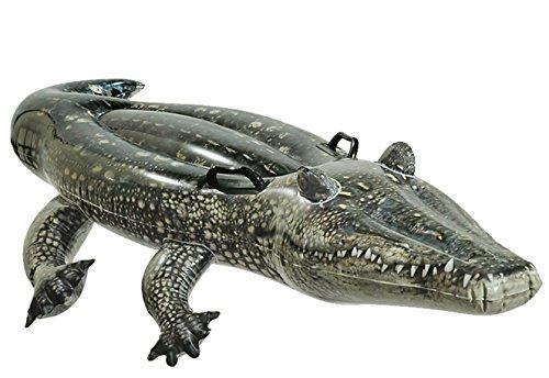 Intex–aufblasbares Tier realistisch + 2Griffe Krokodil -