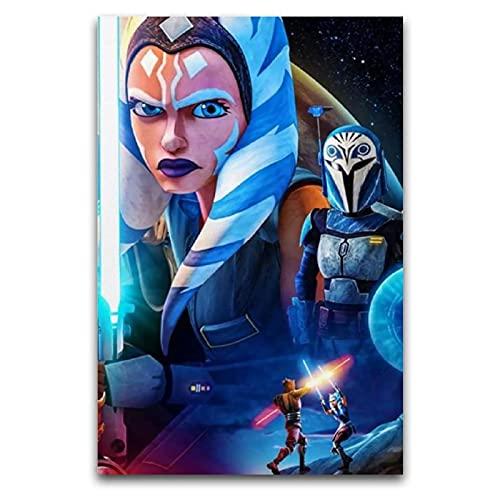 """KASUP Star Wars The Mandalorian Ahsoka Tano kunst poster Canvas decoratief schilderij Studie Office 16 """"×24"""" (40 * 60cm)"""
