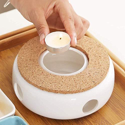 Stövchen Teekanne Porzellan, Die Heizung Besteht aus Keramik, Die den Tee und Kaffee Warm Halten Kann, Warme Teeheizung für Verschiedene Teekannen