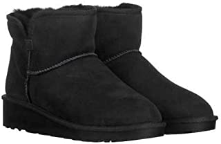 Ladies' Short Shearling Wedge Boot Chestnut