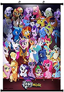 Tina Art My Little Pony Movie Adventure 36 x 24 inches Fabric Friendship is Magic Wall Poster with Frame and Hanger