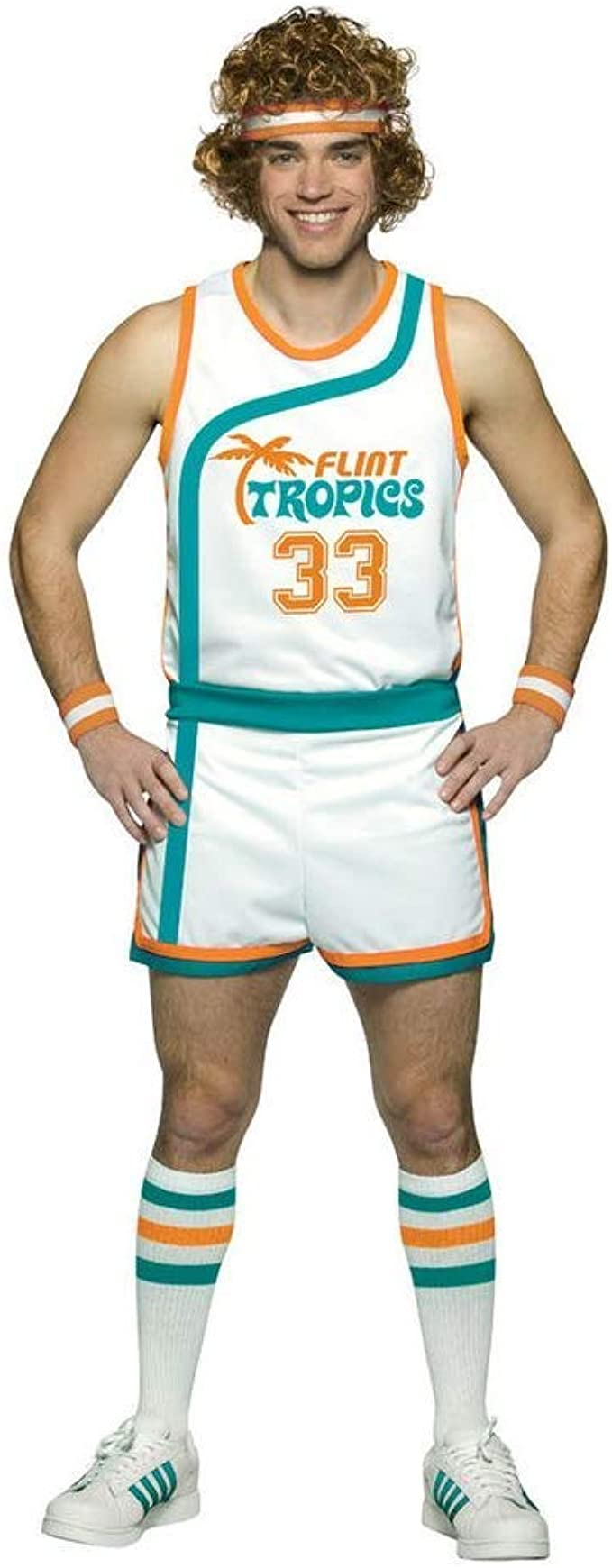 70s Costumes: Disco Costumes, Hippie Outfits Flint Tropics Semi Pro Jackie Moon Basketball Uniform Costume  AT vintagedancer.com