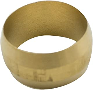 Vis Brass Compression Tube Fitting, Sleeve, Ferrules, 5/8
