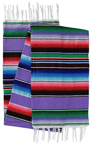 El Paso Designs Extra Groß mexikanischen Saltillo SARAPE Decken, lavendel