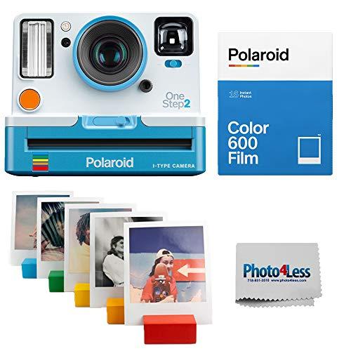 Polaroid OneStep 2 VF Summer Blue Instant Camera   Polaroid Color Film for 600 Double Pack   Polaroid Photo Stand – Rainbow   Cloth