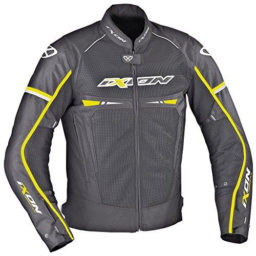 Ixon–Chaqueta Moto–Ixon pitrace, Color Negro/Blanco/Amarillo–L