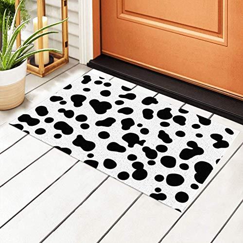 Innenmatte Tür, Kuh-Türmatte Outdoor-Teppich rutschfeste PVC-Fußmatte vorne Innen-Außen-Fußmatten PVC-Rückseite /Badezimmer /Küche /Schlafzimmer /Eingangsmatten Teppich 23,6 x 15,7 Zoll