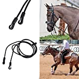 ZANGAO Royal King Trenzado Concurso/Roping Riendas Suave Caballo Riding Equipment Cabestro Caballo Cabestro for Caballo Ecuestre Accesorio (Color : Black)
