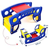PICNMIX Teeter Totter Outdoor Toys for Kids Ages 4-8. Toddler Table and Chair Set. Toddler Furniture and Indoor Playground for Kids. Kids Bench Table and Rocking Chair. Activity Table for Baby.