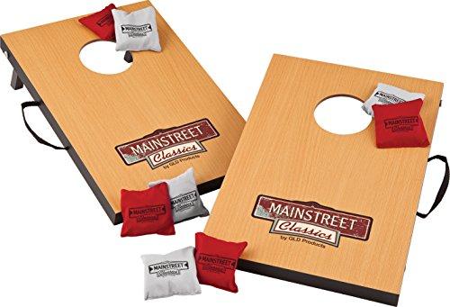 "Mainstreet Classics Micro Bean Bag Toss: Travel Sized, (15.7"" x 10.5"" Boards) Mini Cornhole Game Set"