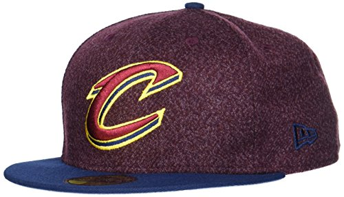 New Era Uomo 59FIFTY Fitted Cleveland Cavaliers NBA Cappello Rosso Scuro